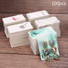 100pcs/lot Paper Necklace Earrings Display Packing Cards Jewelry Ornament DIY SL