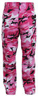 Kids Military Style BDU Pants Pink Camo Camouflage Trouser Boys Girls 66116