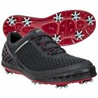 Ecco Mens Cage Evo Golf Spikes Size Black Brick Boa Shoes Spiked 132514 50088