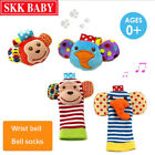 4pcs  Hand Wrist Bell and Foot Sock Rattles Soft Toy for Infant Baby