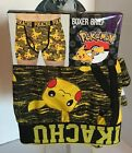 Pokemon Bioworld Pikachu Men's XXL Black & Yellow Stretch Brief NWT