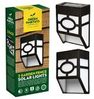 Two Pack Garden Solar LED Fence Lights Wall Shed Outdoor Security Garage Fencing