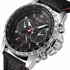 MEGIR Waterproof Men's Stainless Steel Analog Sports Quartz Military Wrist Watch image