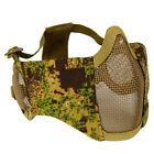 Tactical Half Face Protective Mask Steel Mesh Face Mask for Paintball Airsoft US