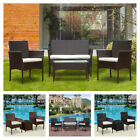 4 Pcs Garden Rattan Sofa Set Garden Furniture Patio Set Sofa Table Chair Outdoor