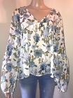Mossimo Blouse Cream Floral