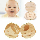 Girls Baby Boys Keepsake Wood Tooth Fairy Box Milk Teeth Organizer Storage Box