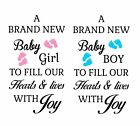 New Baby Vinyl Decal Sticker  Self Adhesive Two Sizes Available