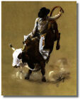 Western Rodeo Cowboy Bullriding Carolyn Cheney Wall Art Print Picture