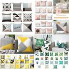 Japanese Style Home Decor Tropical Plant Geometric Square Home Sofa Decor Cushion Cover Pillow Case Hot BY