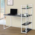 Computer Desk PC Workstation Laptop Table w/4-tier Open Bookshelf Home Office