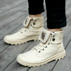 Men Canvas Ankle Martin Boots Nonslip High Top Sports Casual Sneakers Work Shoes