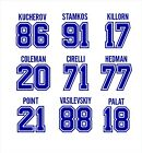 Tampa Bay Lightning- Stamkos Kucherov Point Johnson STICKER DECAL NHL hockey $6.0 USD on eBay