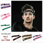 Men Women Sports Yoga Headband Stretch Hairband Elastic Hair Band Letters Turban