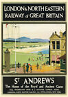 VINTAGE POSTER St Andrews Scotland Golf Art Deco 30s Rail Travel Ad Print A3 A4