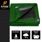 Case of Green/ Black Poly Tarp Cover Super Heavy Duty 10 Mil Thick,