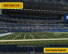 4 Front row Miami Dolphins at Indianapolis Colts tickets Section 116 row 1 on eBay