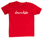 Chocolate Skateboards Hecox Large Chunk Logo Performance Red / White T-Shirt image