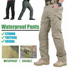 New Men Tactical Waterproof Work Cargo Long Pants with Pockets Loose Trousers