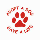 ND_ CN_ FM- ADOPT A DOG SAVE A LIFE PAW PATTERN SELF-ADHESIVE CAR STICKER DECA