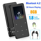 50 Hours Portable Bluetooth MP3 Music Player Hi-Fi Lossless Support up to 128GB