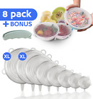 Silicone Stretch Lids – 8 Pcs Food Cover + Free 1 Silicone Hand Shopping Labor