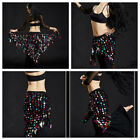 New Style Belly Dance Hip Scarf Belt Skirt Dancing Costume Triangle Sequin Wrap