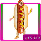 Adults Hot Dog Hotdog Costume Footy Match Food Humour Hen Night Mens Stag Party
