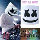 LED DJ MarshMello.Mask Full Head Helmet Halloween Cosplay Bar Music Prop DJ Mask