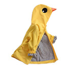 Birdfly Unisex Kids Animal Raincoat Cute Cartoon Jacket Hooded Zip Up Coat Baby