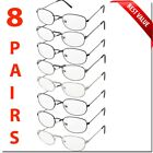 Kyпить READING GLASSES 8 PACK METAL LOT CLASSIC READER UNISEX MEN WOMEN STYLE BULK LOT  на еВаy.соm
