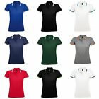 SOLS Womens/Ladies Pasadena Tipped Short Sleeve Pique Polo Shirt (PC2432)