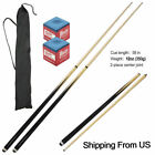 58-inch 2-Piece Wood Billiard Pool Cue Stick ,Table Ball Cues Set(12/18oz/19oz) $26.99 USD on eBay