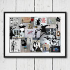 Banksy Large Montage Collage Graffiti Wall Art Decor Print Poster Picture A3 A4