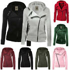 Womens Winter Plain Zipper Hoodie Ladies Swetshirt Jumper Jacket Tops Plus Size