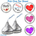 108 Wedding Party Favors Hershey Kiss Candy Labels Stickers Venue Decorations