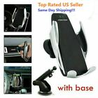 Knee-jerk Clamping Wireless Fast Charge Car Charger Air Vent Mount Suction Base