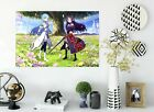 3D Tree Lawn Petals Girl 928 Japan Anime Wall Stickers Wall Mural Decals Zoe