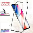 Screen Protector for iPhone,XR,XS MAX 6 7 Pro 9H FULL COVER TEMPERED GLASS-Black
