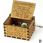 Wooden Music Box Hand Clockwork Birthday Party Gift 'You Are My Sunshine' US