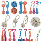 Pet Dog Chew Knot Toy Training Bite Strengthen Teeth Cotton Rope Braided Ball