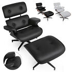 Used, Classic Eames Style Lounge Chair & Ottoman Recliner PU Leather Heavy Duty PRO for sale  Perth Amboy