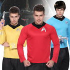 Mens Star Trek T-Shirt Blouse Captain Scotty Kirk Spock Sci Fi Fancy Dress New on eBay