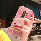 Laser Marble Pop Stand Holder Grip Cover Case for Samsung Galaxy S10 S8 S9 Plus