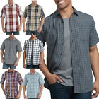Dickies Shirts Mens Short Sleeve Plaid Icon Relaxed Fit Yarn Dyed Shirt WS525