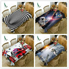 3D Scenery Rectangular Table Cover cloth dust-proof clean Washable dining decors