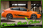 Side Checkered Flag Door Stripes Graphics Style 15 - Fits 2013-2016 Dodge Dart $59.99 USD on eBay