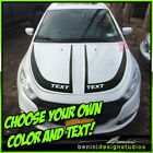 Hood Racing Stripes Blackout Graphics 5 - Fits 2013-2016 Dodge Dart $39.99 USD on eBay