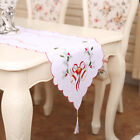Exquiaite Christmas Hollow Table Flag Embroidered Table Runner Cover 40*170CM