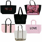 Victoria's Secret Tote Bag Large Shopper Bling Logo Carry All Travel Vs New Nwt image